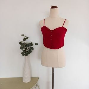 Ava & Eve Size 10 Cropped Top Red Cotton Top